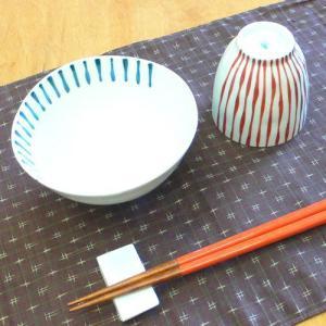 【母の日 父の日】つれづれ十草 飯碗&湯呑みセット(赤)|merusa