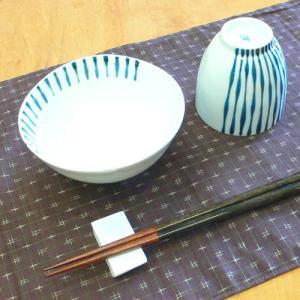 【母の日 父の日】つれづれ十草 飯碗&湯呑みセット(青)|merusa