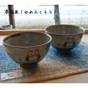 【還暦・退職祝】夢福来(ゆめふくろう) 飯碗|merusa