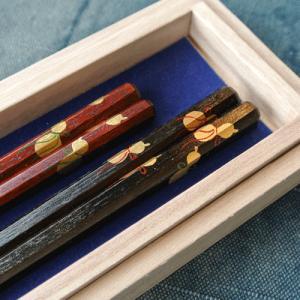 【父の日・母の日セット】夫婦八角箸 六瓢 |merusa