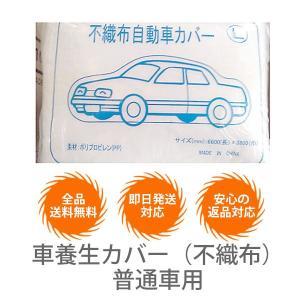 車養生カバー(不織布)普通車用【10枚セット】 meshsheet