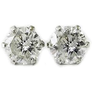 [あなたと私の宝石箱] プラチナ ダイヤ ピアス ・合計0.50カラット上質SIクラス一粒ダイヤモンド  宝石鑑別書付  誕生石4月|mesotes