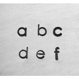彫金用 Deco Low 1.5mm*小文字英語アルファベット刻印セット 革/レザークラフトにも*ImpressArt