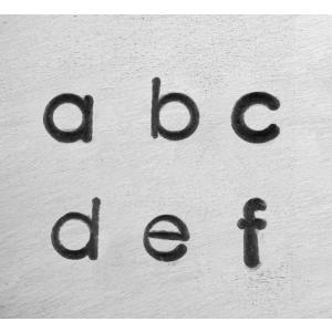 【予約】彫金用 Deco Low 3mm*小文字英語アルファベット刻印セット 革/レザークラフトにも*ImpressArt