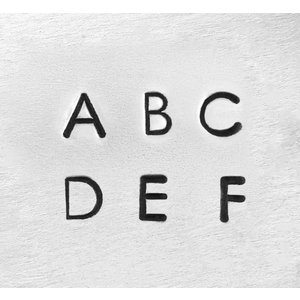 【予約】彫金用 Deco Upp 1.5mm*大文字英語アルファベット刻印セット 革/レザークラフトにも*ImpressArt
