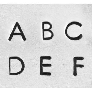 【予約】彫金用 Deco Upp 3mm*大文字英語アルファベット刻印セット 革/レザークラフトにも*ImpressArt