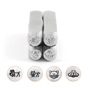 彫金刻印 Dogs&Cats*犬と猫の刻印4本セット 革細工/レザークラフトにも*ImpressArt