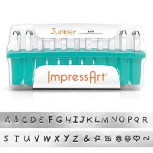 彫金用 Juniper Upp*大文字英語アルファベット刻印セット 革/レザークラフトにも*ImpressArt|metal-stamp|03
