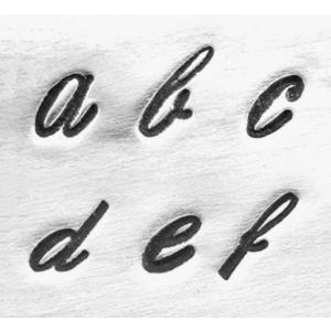 【予約】彫金用 Script Low 4mm*筆記体の小文字英語アルファベット刻印セット 革/レザークラフトにも*ImpressArt
