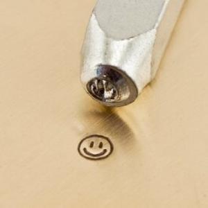 彫金刻印 Smiley Face 3mm*スマイル 革細工 レザークラフトにもOK! metal-stamp 03