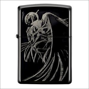 天野喜孝ZIPPOライター[01_x02G] #200ケース・ブラックメッキ・エッチング&レーザー彫刻加工でキャラクターデザインを大胆にレイアウト! metaledit