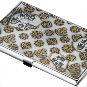 【ONE PIECE】ワンピース 電伝虫メタルカードケース シルバー[トラファルガー・ロー] 金属製/名刺入れにも|metaledit