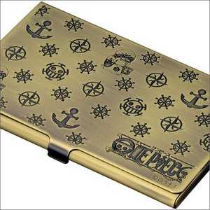 【ONE PIECE】ワンピース 電伝虫メタルカードケース ブラス[トラファルガー・ロー] 金属製/名刺入れにも|metaledit