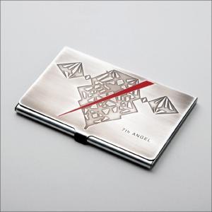 エヴァンゲリオン・カードケース[第7の使徒] 金属製/銀イブシ仕上げ/名刺入れ/第7の使途をデザイン!|metaledit