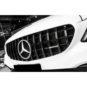 BENZ ベンツAMGパナメリカーナグリル W205 S205 C205 Cクラス用AMG GTRタイプ艶黒グリル C200 C180 C250 C43 C45|meteo88