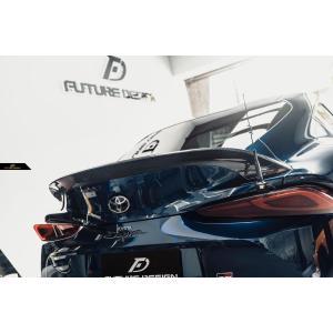 【FUTURE DESIGN】TOYOTA トヨタ A90 SUPRA スープラ SZ SZ-R RZ リアスポイラー 本物Drycarbon ドライカーボン|meteo88