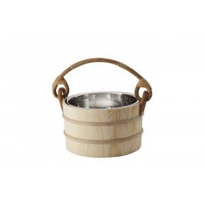 IKI-No371MP 桶:本体:ステンレス製 取っ手:木製 大きさ:280φ 容量:満水時約5.0...
