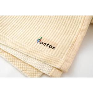 サラッとサウナ 抗菌サウナマット 90cm×130cm metos刺繍入|metos