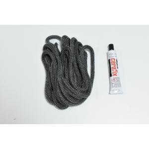 DOVRE用 ガスケットロープ8mm&セメントセット (ガスケットロープ8φx5m&セメント1本)|metos