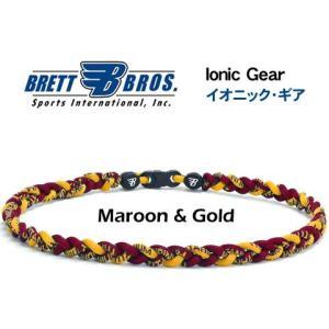 Brett Bros イオニック・ギア(チタンネックレス) メジャーリーガー愛用(11マルーン&ゴールド)|metrofashion