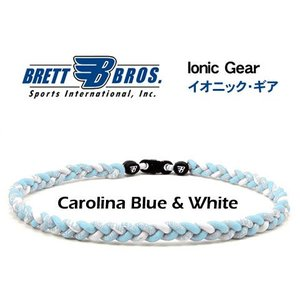 Brett Bros イオニック・ギア(チタンネックレス) メジャーリーガー愛用(14キャロラインブルー&ホワイト)|metrofashion