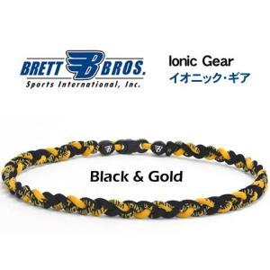 Brett Bros イオニック・ギア(チタンネックレス) メジャーリーガー愛用(3ブラック&ゴールド)|metrofashion