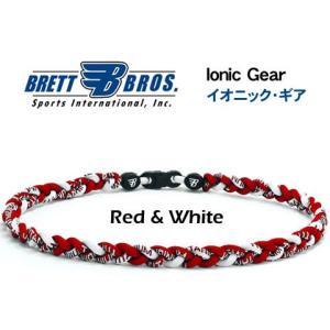 Brett Bros イオニック・ギア(チタンネックレス) メジャーリーガー愛用(5レッド&ホワイト)|metrofashion