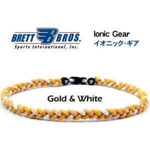 Brett Bros イオニック・ギア(チタンネックレス) メジャーリーガー愛用(7ゴールド&ホワイト)|metrofashion