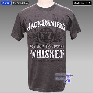 Jack Daniels ジャックダニエルズ公式メンズTシャツ(グレー) metrofashion