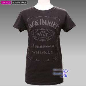 Jack Daniels ジャックダニエルズ公式レディースTシャツ(クラッシック) metrofashion