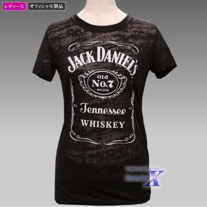 Jack Daniels ジャックダニエルズ公式レディースTシャツ(バーンアウト) metrofashion