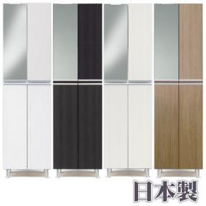 日本製 シューズボックス 50幅 ハイタイプ ミラー付き 鏡付き|meuble