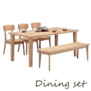 ダイニングセット ダイニングテーブルセット ダイニング5点セット 6人掛け テーブル170幅 ベンチ140幅 meuble