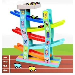 知育玩具 おもちゃ 1歳 2歳 3歳 4歳 誕生日プレゼント 男の子 車 木のおもちゃ スロープ 女...