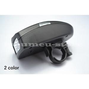 自転車用ライト 自転車ライト 自転車ヘッドライト 電池式ライト ブラック 黒 オレンジ LED 電子...