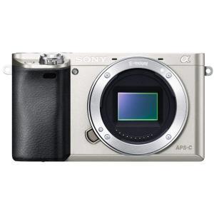 【送料無料】ミラーレス一眼レフカメラ SONY ソニーα6000 ボディ シルバー【中古】