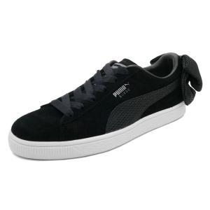 スニーカー プーマ PUMA スウェードBOWアップライジングウィメンズ ブラック/ホワイト レディース シューズ 靴 18FA|mexico