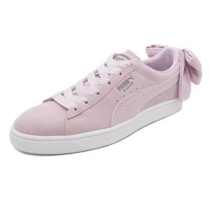スニーカー プーマ PUMA スウェードBOWアップライジングウィメンズ ピンク/ホワイト レディース シューズ 靴 18FA|mexico