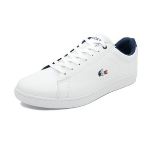スニーカー ラコステ LACOSTE カーナビーエヴォ1197SMA ホワイト/ネイビー/レッド メンズ シューズ 靴 19SS|mexico