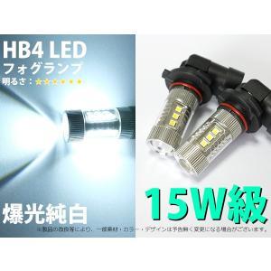 15W級 爆光純白 HB4 ハイパワーチップ16連 フォグランプLED 2個セット 1ヶ月保証【2288】 mfactory-yashop