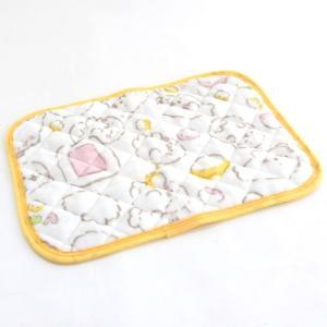 しろたん ふわふわ柄 枕パッド|mg-sweet
