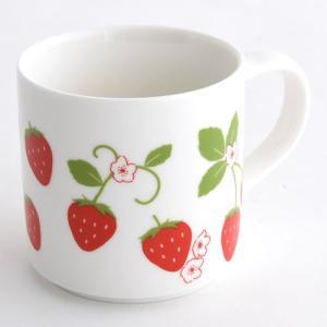 【スキップガーデン】 苺柄 マグカップ|mg-sweet