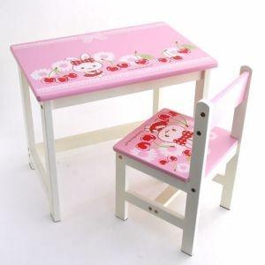 子供部屋 木製家具 子供机 うさもも お絵かき デスク&チェア 組み立て式|mg-sweet