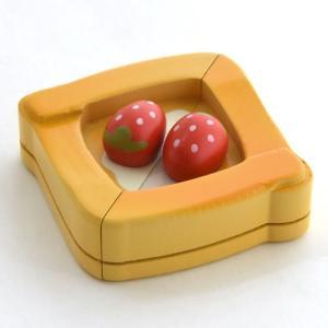 ままごと 木製 苺 デニッシュパン|mg-sweet