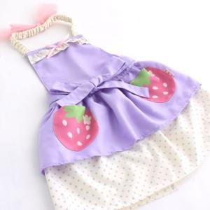 野苺 三角巾付き 子供 エプロン 110cm|mg-sweet