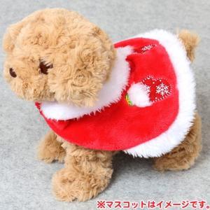 一緒にお散歩 ワンちゃん にゃきぐるみ ケープ クリスマス柄|mg-sweet