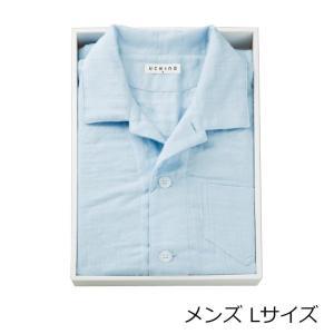 マシュマロガーゼパジャマ メンズ Lサイズ RC15680L 1011-045〔代引き不可〕 トレード|mgbaby-shop