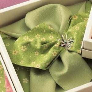 彩美花飾り ふろしき・小ふろしきセット グリーン 827〔代引き不可〕 トレード|mgbaby-shop