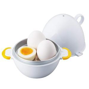 たまごと水を入れて電子レンジで加熱するだけで簡単にゆで卵が作れます。