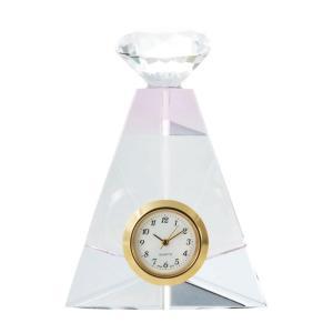 香水瓶をモチーフにしたエレガントなデザインの置時計です。プレゼントにもおすすめです。